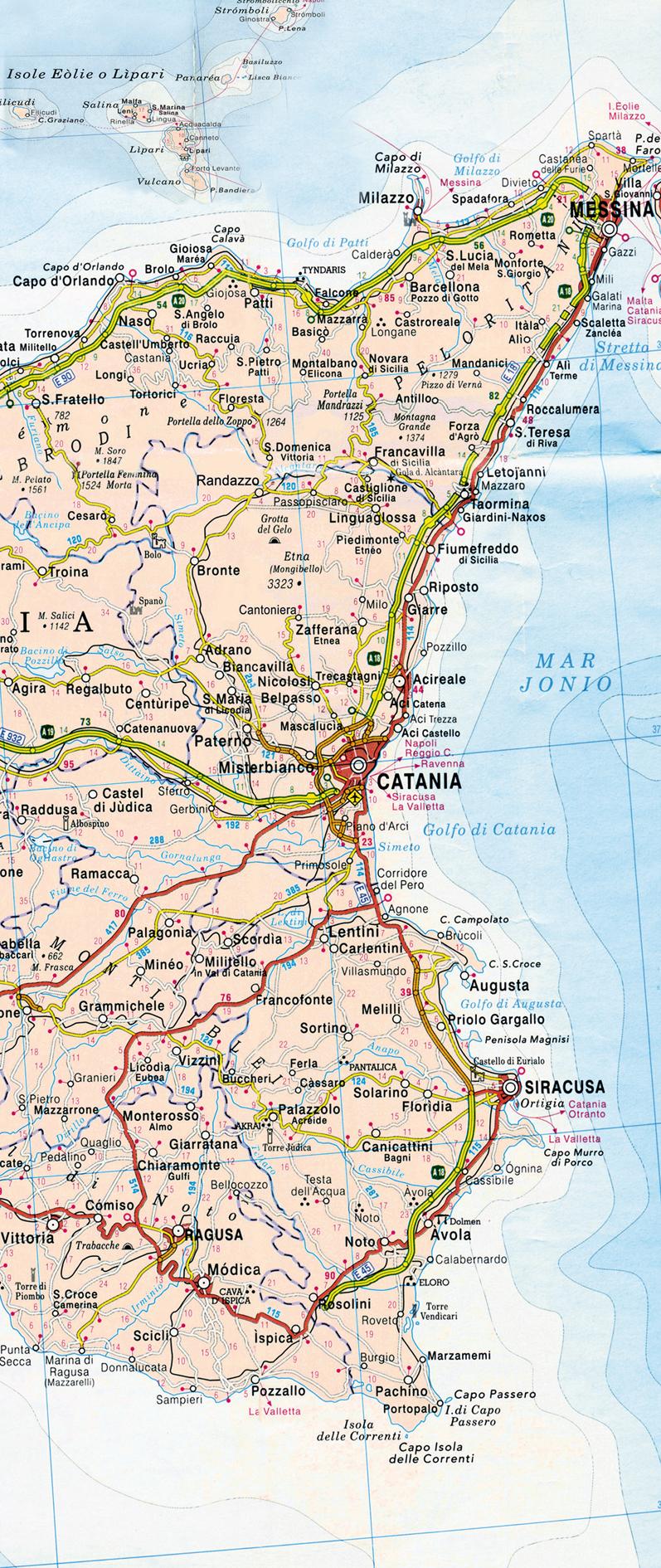 Sicilia Occidentale Cartina Stradale.Percorrendo La Sicilia